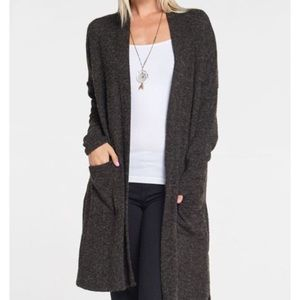 Sweaters - Plus size cardigan in charcoal